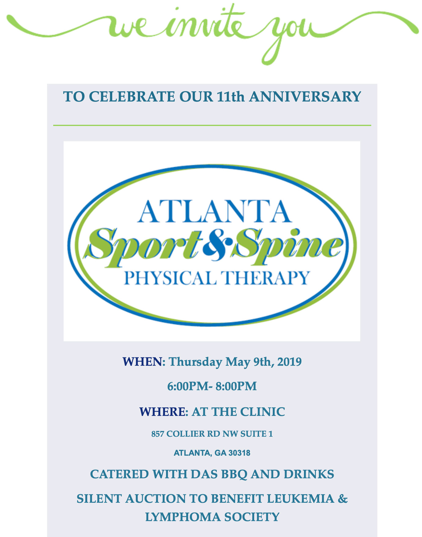 Atlanta Sport & Spine Physical Therapy 11 Year Anniversary!